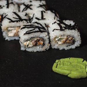 Smazhenij Z Lososem Sushi Roly Kioto Festival Sushi Belaja Cerkov